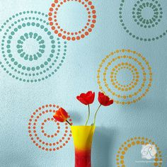 Circling Allover Wall Art Stencil from Royal Design Studio