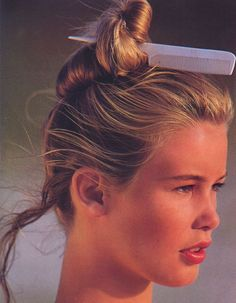Claudia Schiffer by Gilles Bensimon (late 80s)
