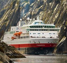 Norway. Sailing through Trollfjord. I were in this boat : it has just the place to go in the Trollfjord and return between high mountains