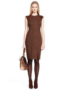 Raye Suede-Cashmere Dress - Short Dresses  Dresses - RalphLauren.com