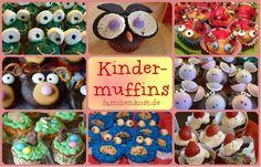 Alle Kinder lieben Muffins, daher sammeln wir Ideen und Rezepte für leckere, bunte Kindermuffins, die nicht nur zum Kindergeburtstag der Hit sind. Vom Krümelmonster, über lustige Clowns und süße Tiere ist allerhand in unserer Sammlung dabei: http://www.familienkost.de/kindermuffins.php