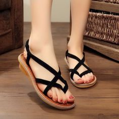 GET $50 NOW   Join RoseGal: Get YOUR $50 NOW!http://www.rosegal.com/sandals/cross-strap-elastic-sandals-1138979.html?seid=4514413rg1138979