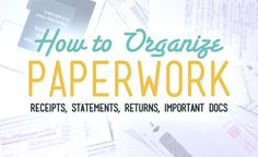 How to Organize Paperwork