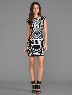 Black and White Tribal Dress