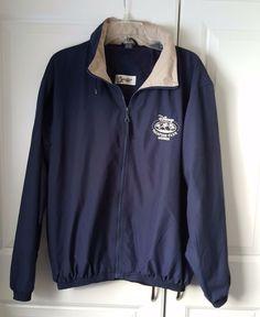 Disney Vacation Club Member Logo Full Zip Hooded Jacket Men's Size Large Vented