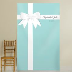 Personalized Tiffany Blue Photo Backdrop  Maybe this for your picture backdrop @arbaue00 ?? We could make it for a lot cheaper!