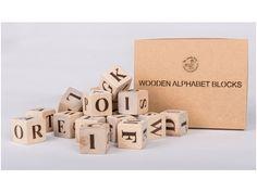 Houten blokken alfabet