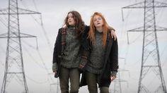 Still of Elle Fanning and Alice Englert in Ginger & Rosa