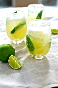 Pineapple Mojito Recipe  rum juice cocktail drink mint syrup lime desserts cocktails sugar flavor