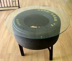 Racing Car Tyres Slicks Made Into Coffee Table For My