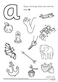 The Letter A Coloring Pages. 30 the Letter A Coloring Pages. Start with the Letter A Colouring Page Letter A Coloring Pages, Coloring Sheets, Colouring, Jolly Phonics Activities, Alphabet Activities, Phonics Worksheets, Beginning Sounds Kindergarten, Alphabet Phonics, Phonics Sounds