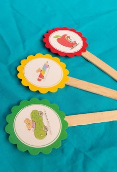 BusyTown Cupcake Toppers Kids Birthday Party by BloomingEvents