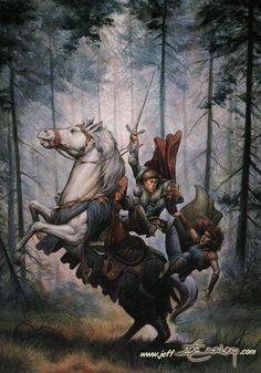 Dragonlance, Heroes, Galen Beknighted by Jeff Easley.