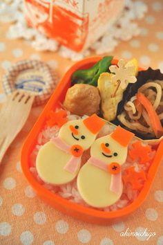 Bento box Snowmen