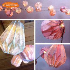 VERKAUFT Origami, Lace, Paper, Garlands, Dekoration, Paper Lanterns, Book Folding, Handmade, Origami Paper
