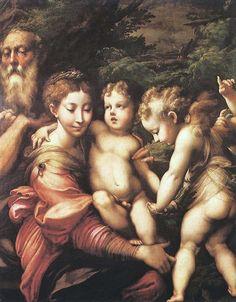 Descanso en la huida a Egipto, Parmigianino, 1524, óleo sobre lienzo, Museo del Prado, Madrid , España, Ruth Pérez Buendía