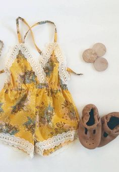 Yellow Floral Bohemian Jumpsuit | hipsterlittles on Etsy