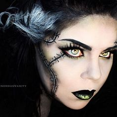 Bride of Frankenstein ✖️✖️ Final shot of this look! I really like how it came out and I thank you so much for all the love on the previous photos. You guys seriously are the best ❤️ #halloween2015 #venomousvanity