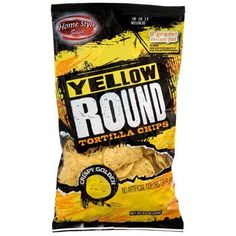 Home Style Select Yellow Round Tortilla Chips, 8.5-oz. Bag