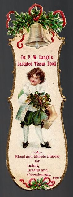 Scranton PA 1901 Dr Lamge's Lactated Tissue Food Bookmark Medicine Trade Card | eBay
