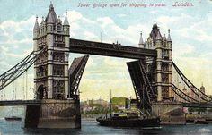 Vintage 1920s Tower Bridge London Great Britain UNUSED Post Card