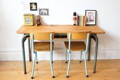 Vintage Mid Century Children S Double French School Desk Ebay