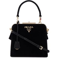 Prada velvet tote with jewel-embellished hardware (€2.165) ❤ liked on Polyvore featuring bags, handbags, tote bags, prada handbags, prada tote, prada purses, prada tote bag and prada