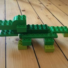 Crocodile made in Lego