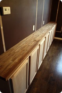 Thrifty Decor Chick: Dining room transformation, part 2 Office Wall Cabinets, Built In Cabinets, Ikea Cabinets, Cupboards, Dining Room Walls, Dining Room Furniture, Living Room, Diy Furniture, Room Feng Shui