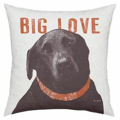 """Pay homage to your favorite furry friend with this delightful pillow, showcasing a dog motif and text details.   Product: PillowConstruction Material: Cotton and polyesterColor: MultiFeatures:  Insert includedMade in the USA Dimensions: 18"""" x 18"""""""