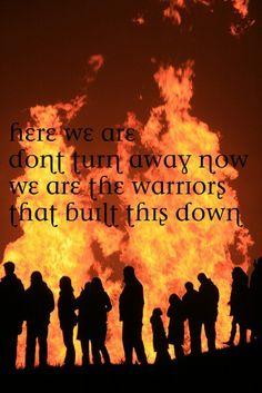 Imagine Dragons Warriors Lyrics it's TOWN people!!!!! NOT DOWN!<< Still cool poster!