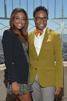 2013 Tony Awards-nominees Patina Miller of Pippin and Billy Porter of Kinky Boots atop the Empire State Building.