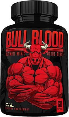 Bull Blood Nitric Oxide Supplement - Extra Strength L Arginine & L Citrulline Pills for Muscle Growth, Pumps, Blood Flow for Men - NO Booster for Enhancing Male Strength & Energy - 60 Veggie Caps Treat Your Heart Right - During exercise, nitric oxide is released into blood vessels causing them to dilate and improve blood flow throughout the body. Bull Blood Nitric Oxide helps to increase blood flow, ensuring your heart gets healthier, oxygen-rich blood and may help to prevent heart and c Increase Testosterone, Testosterone Booster, Testosterone Levels, Nitric Oxide Supplements, L Arginine, Male Enhancement, Get Healthy, At Home Workouts, Protein