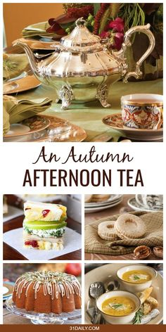 Afternoon Autumn Tea: Celebrating a Glorious Season An Autumn Tea Party is a perfect time to treat yourself, friends, and family to a beautiful respite during the fall busy season. An Afternoon Autumn Tea: Celebrating a Glorious Season Tee Sandwiches, Tea Party Sandwiches, Afternoon Tea Recipes, Afternoon Tea Parties, Fall Tea Parties, Tea Time Recipes, Tea Party Recipes, Winter Tea Party, Afternoon Tea At Home