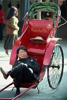 CHINESE RICKSHAW PULLERS | ... 1890-6755, Rickshaw puller, Star Ferry Piers, Hong Kong, China, Asia