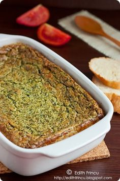 sufleu de spanac Quiche, Fries, Food And Drink, Baking, Breakfast, Ethnic Recipes, Mariana, Salads, Morning Coffee