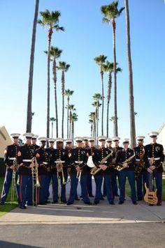 Marine Band San Diego Jazz Ensemble under the directions of Small Ensemble Leader Gunnery Sgt. Jonathan Bley. — with Merrick Brandon Konkoly and Kristi Simonis.