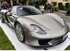 Porsche 918 - Spyder This is Porsche's high-performance plug-in hybrid. It's expected to go on sale soon at prices starting around $845,000. The 918 Spyder will be powered by 608 horsepower V8 engine but, with batteries and electric motors helping out, total maximum power output will be about 887 horsepower.