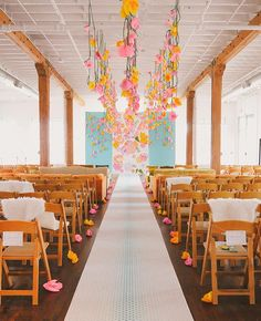 hanging flowers | June Bug Company | blog.theknot.com