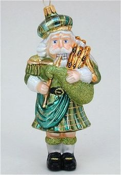Scottish Piper Polish Glass Christmas Ornament -- You can find out more details at the link of the image.