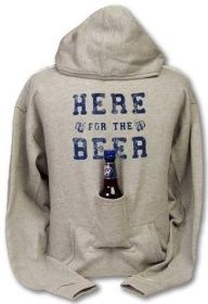 This is definitely going to be a birthdays gift this year! I just know they will LOVE it!!!! -- Beer Hoodie Sweatshirt with Beer Pouch $14.99
