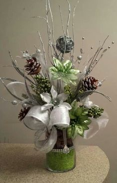 Modern Christmas Floral arrangement by J Baldwin