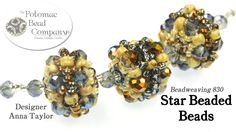 "This video tutorial from The Potomac Bead Company teaches you how to make Anna Taylor's ""Star Beaded Bead"" design. Find a complete list of supplies below by ..."