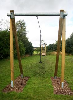 Cool zip line platform for over the pond   Stuff for the ...