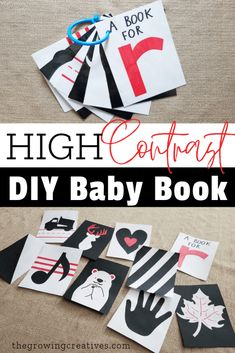 High Contrast Sensory Baby Book The Growing Creatives Sensory Book, Baby Sensory, Infant Sensory, Infant Activities, Activities For Kids, Learning Activities, Young Baby, Preschool Education, Before Baby