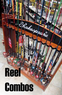 Rod & Reel Combos.  #Rods #Reels #Fishing #catching #lures #weights #bigtimber #montana www.fortmt.com