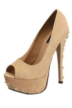 Studded Heel Pump