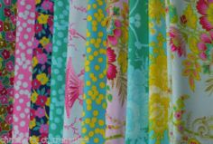 10 Sis Boom Free Spirit Stash Fat Quarters Quilting Fabric Collection Quilt