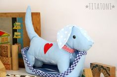 10 Brilliant Projects to Upcycle Leftover Fabric Scraps - Nedette Love Sewing, Sewing For Kids, Diy Pour Enfants, Dog Pattern, Free Pattern, Leftover Fabric, Sewing Dolls, Stuffed Animal Patterns, Stuffed Animals