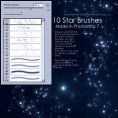 Star Brushes by kuschelirmel-stock.deviantart.com on @deviantART